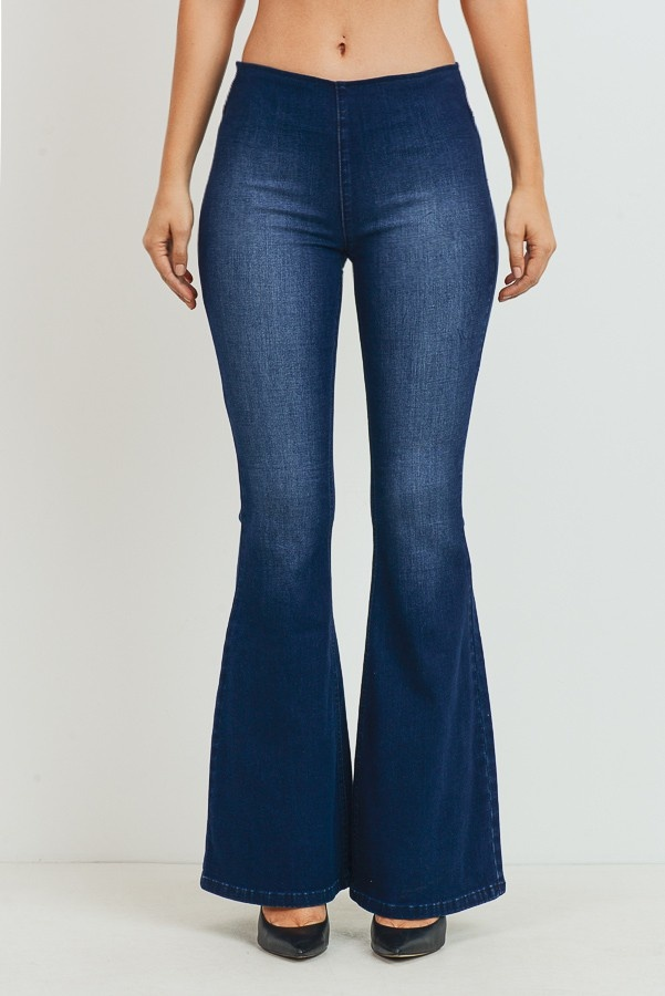 tricot Mid-Rise Wider Flare Jeans