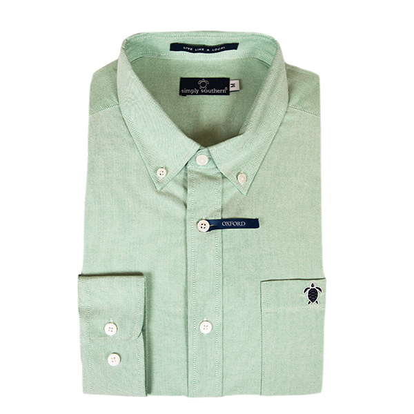 Simply Southern Collection Parker Long Sleeve Button Up Dress Shirt