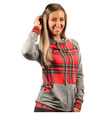 Simply Southern Collection Red and Grey Plaid Hoodie