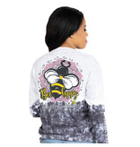 Simply Southern Collection Bee Happy Long Sleeve T-Shirt - Smokey