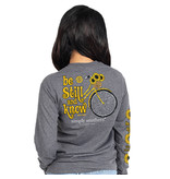 Simply Southern Collection Be Still Long Sleeve T-Shirt - Dark Heather Grey