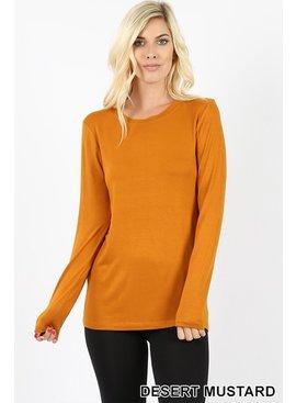 Zenana Premium Long Sleeve Round Neck Top