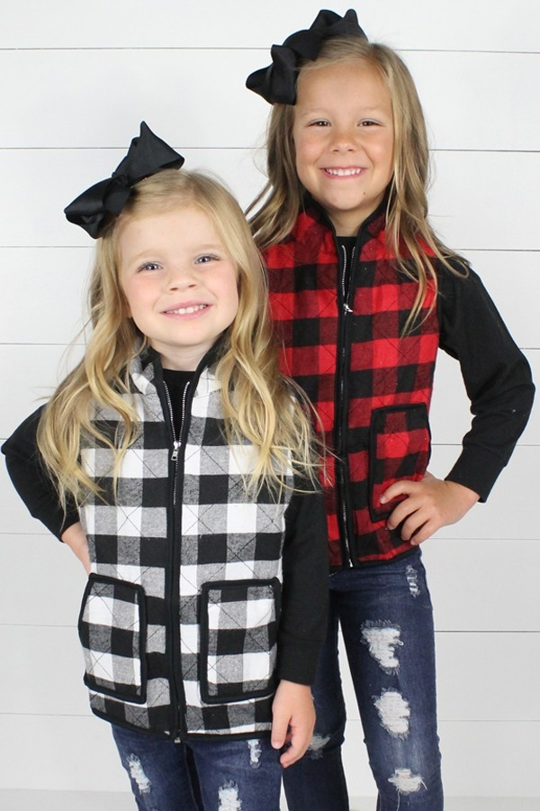 Youth Buffalo Plaid Vest