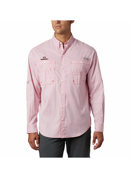Columbia Sportwear Men's Collegiate PFG Tamiami™ Long Sleeve Shirt - Georgia