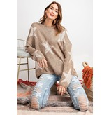 Star Pattern Knit Sweater