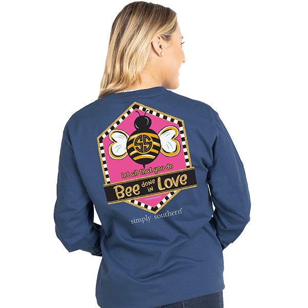 Simply Southern Collection Youth Bee Love LS T-Shirt