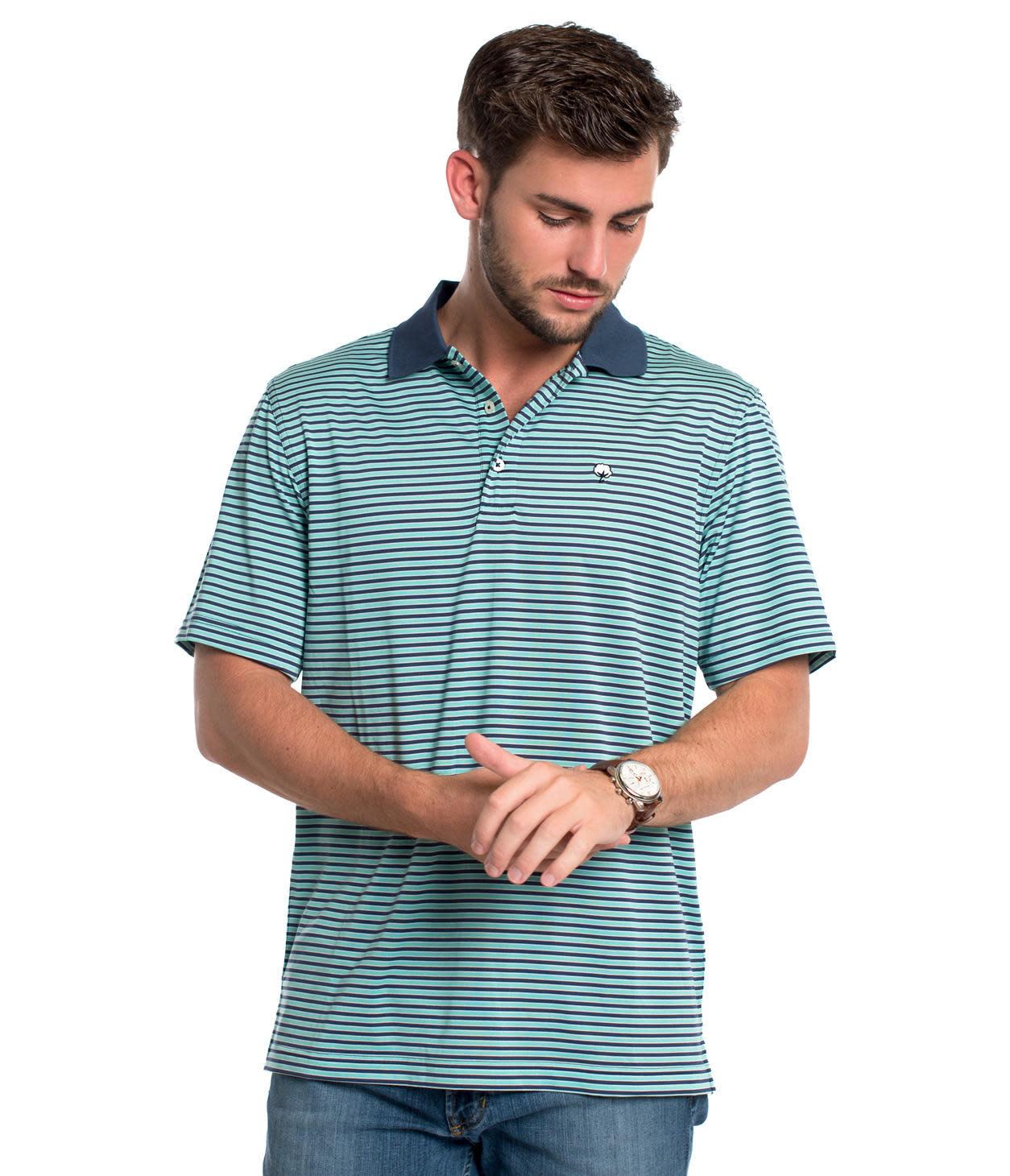 Southern Shirt Vicksburg Stripe Polo