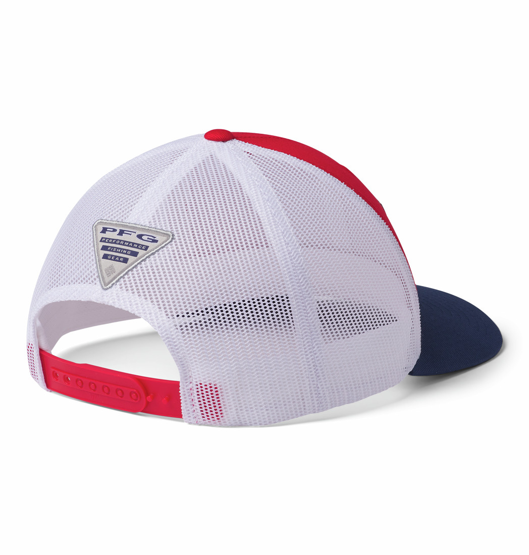 Columbia PFG Mesh Snap Back Fish Flag Ball Cap