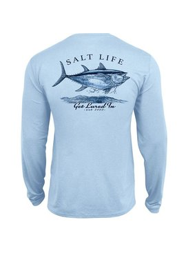 Salt Life Get Lured In Performance Long Sleeve Pocket Tee