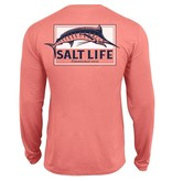 Salt Life Pure Marlin Performance Long Sleeve Pocket Tee