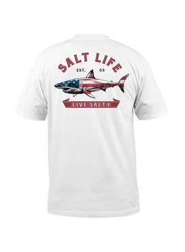 Salt Life Red White and Bite Pocket Tee