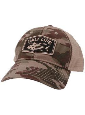 Salt Life Red White and Blufin Mesh Back Hat