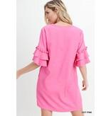 Jodifl Tassel Fringe Ruffle Dress