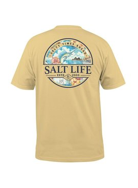 Salt Life Salty Times Ahead Pocket Tee