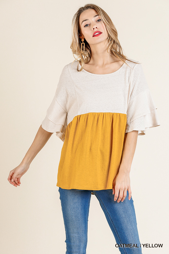 Umgee Layered Colorblocked Top
