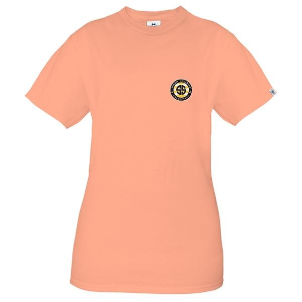 Simply Southern Collection Mama Bear Sunflowers Short Sleeve T-Shirt -Peachy