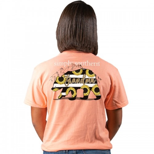 Simply Southern Collection Grandma Short Sleeve T-Shirt - Peachy