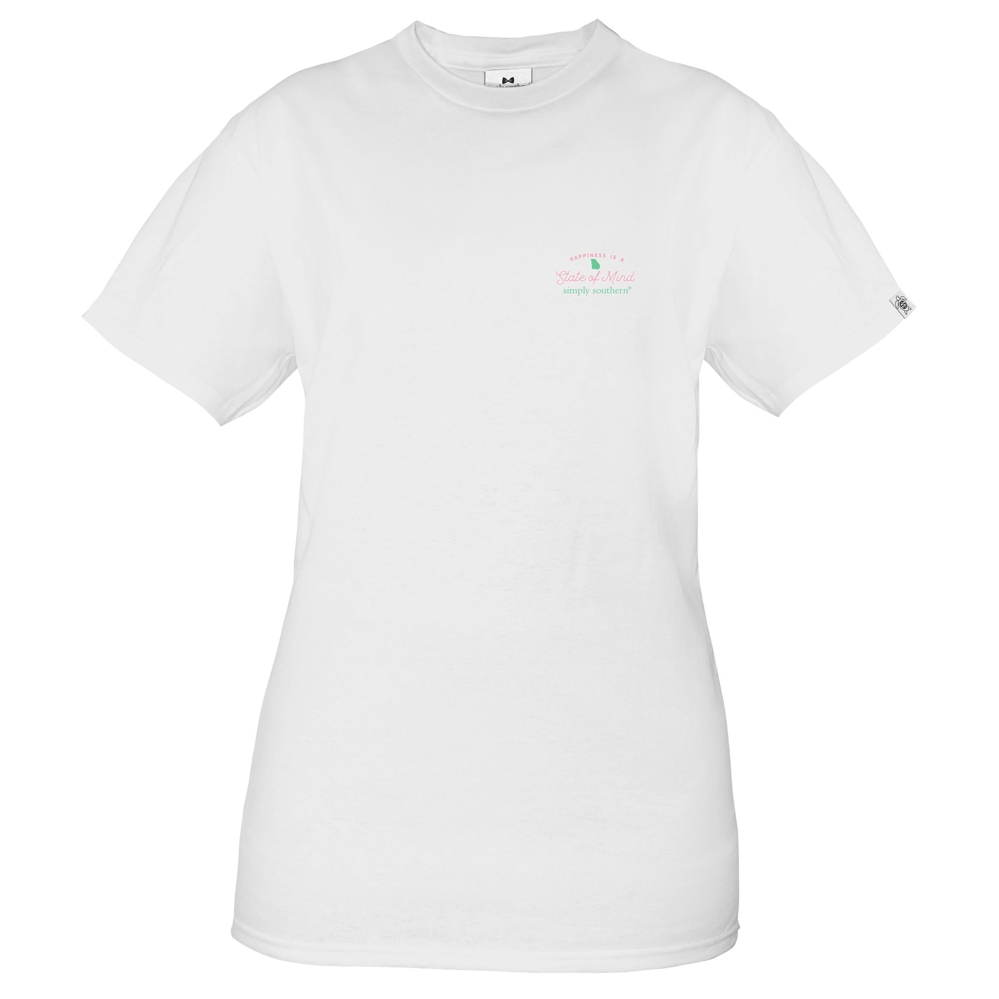 Simply Southern Collection State Of Mind Georgia Short Sleeve T-Shirt - White