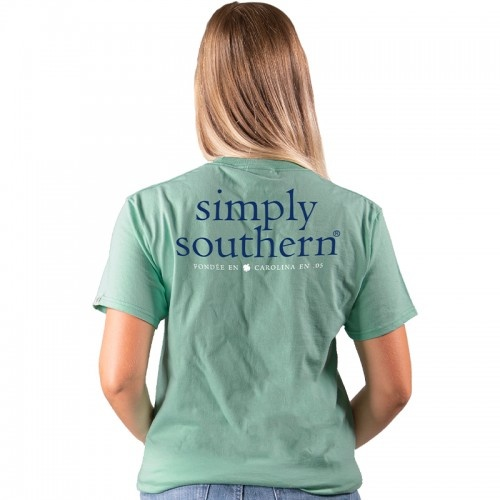 Simply Southern Collection Basic Logo Short Sleeve T-Shirt - Sea