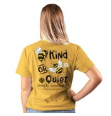 Simply Southern Collection Bee Kind or Bee Quiet Short Sleeve T-Shirt - Mustard