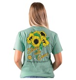 Simply Southern Collection Bloom with Grace Short Sleeve T-Shirt -Sea