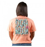 Simply Southern Collection Dog Mom Short Sleeve T-Shirt -Peachy