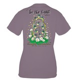 Simply Southern Collection Youth Youth - Be the Light Mason Jar Short Sleeve T-Shirt - Plum