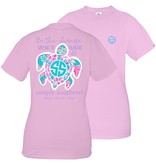 Simply Southern Collection Save the Sea Turtles Be the Change Short Sleeve T-Shirt - Blush