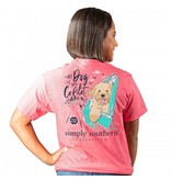 Simply Southern Collection My Dog Is my Co-Pilot Short Sleeve T-Shirt - Begonia
