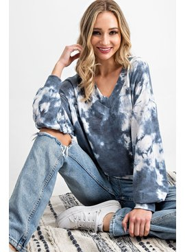 EE:SOME Tie Dye V-Neck Top