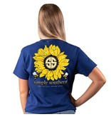Simply Southern Collection Sunflower Short Sleeve T-Shirt - Midnight
