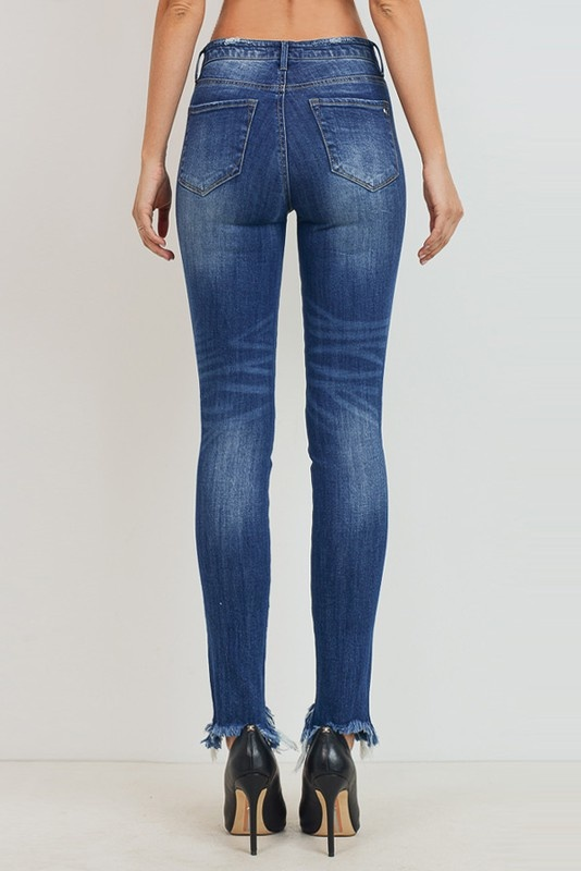 Tricot by C'est Tol Mid-Rise ankle skinny jeans