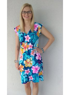 Aryeh ARYEH Cap Sleeve Floral Dress