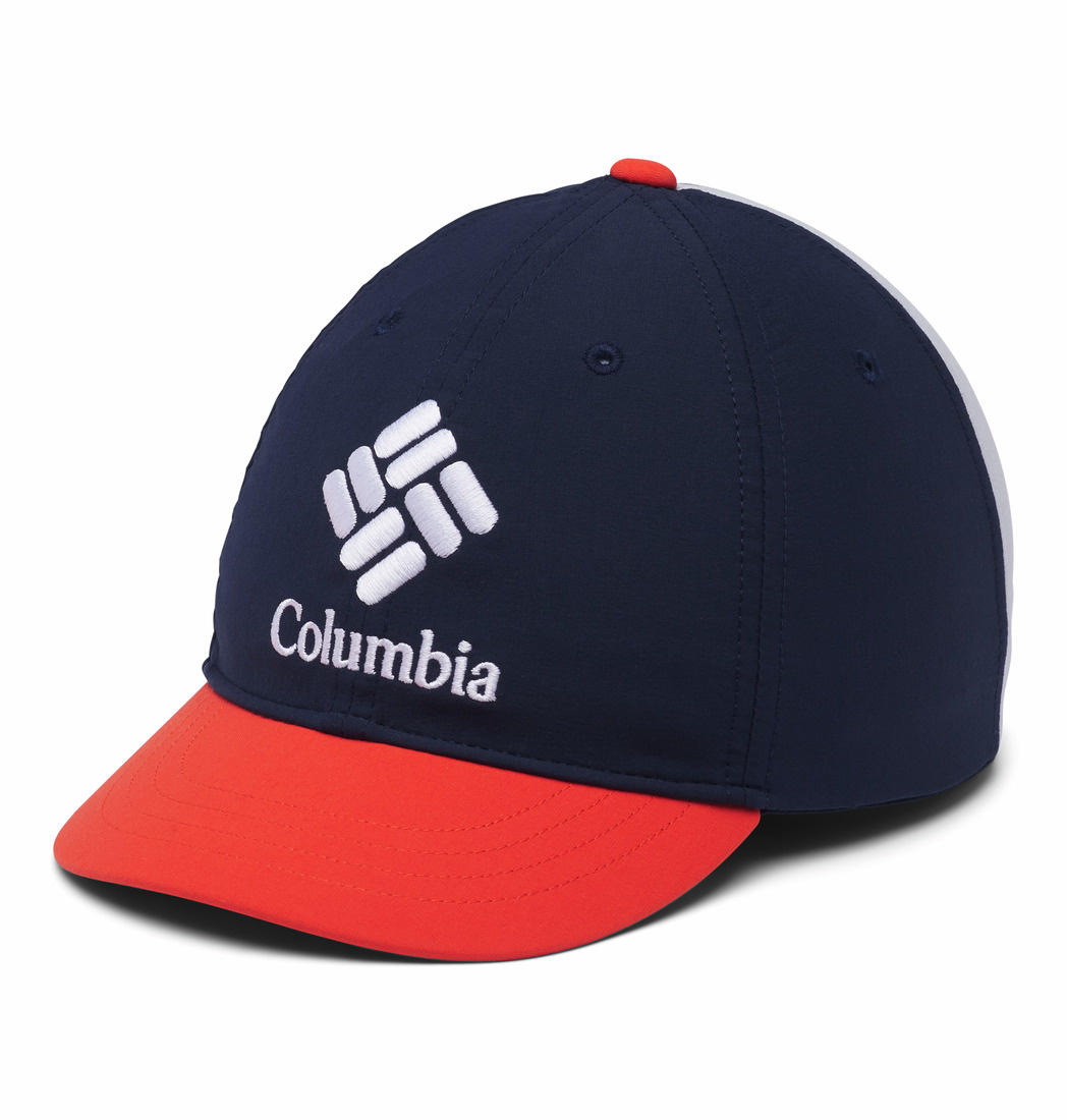 Columbia Sportswear Kids' Adjustable Ball Cap Coll Navy, Wildfire, Cirrus Grey
