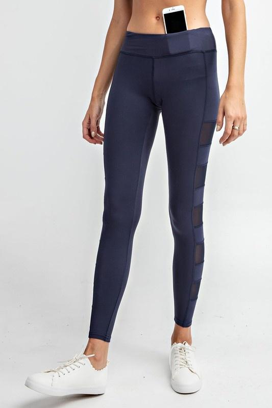 Rae Mode Full Length Side Mesh Panel leggings
