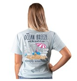 Simply Southern Collection Ocean Breeze Short Sleeve T-Shirt -Ice