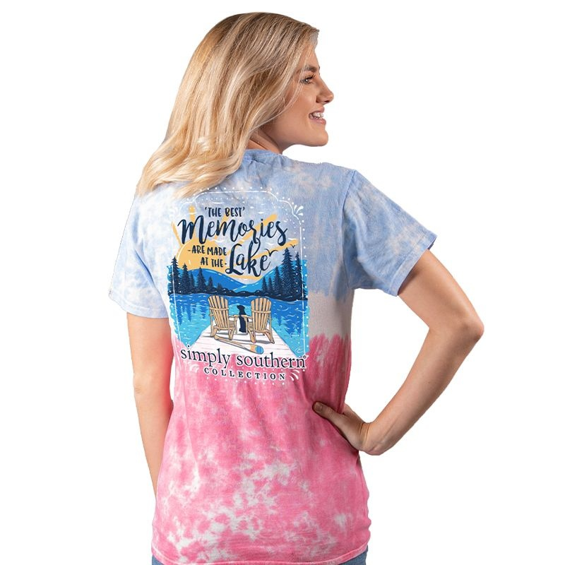 Simply Southern Collection Lake Memories Short Sleeve T-Shirt -Icepop