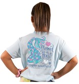 Simply Southern Collection Youth Mermaid At Heart Short Sleeve T-Shirt Ice