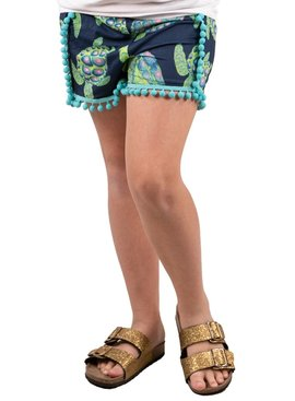 Simply Southern Collection Pom Pom Shorts Turtle