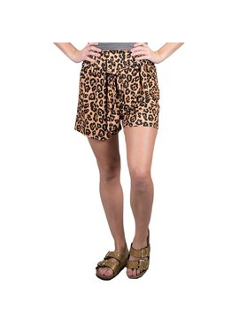 Simply Southern Collection Shorts Tie Leopard