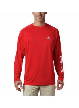 Columbia Sportwear Men's Collegiate PFG Terminal Tackle™ Long Sleeve Shirt - Georgia