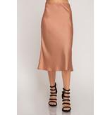 She & Sky Woven Midi Skirt