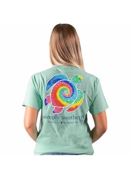 Simply Southern Collection Save the Sea Turtles Tie Dye Short Sleeve T-Shirt - Poseidon