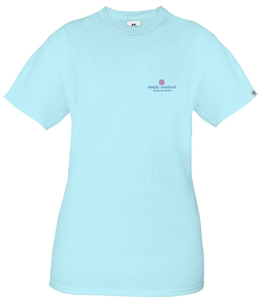 Simply Southern Collection Scrub Life No Matter How Difficult Short Sleeve T-Shirt - Ice