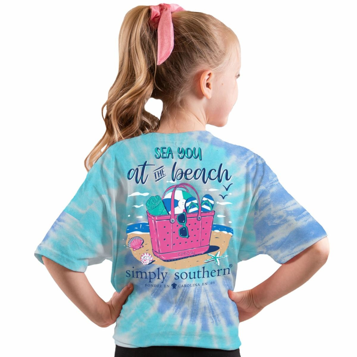 Simply Southern Collection Youth - Sea You at the Beach Short Sleeve T-Shirt - Tide