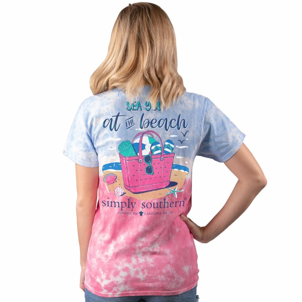 Simply Southern Collection Sea You at the Beach Short Sleeve T-Shirt - Icepop