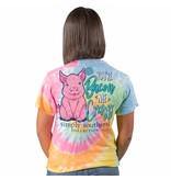 Simply Southern Collection You're Bacon Me Crazy Short Sleeve T-Shirt - Tie dye