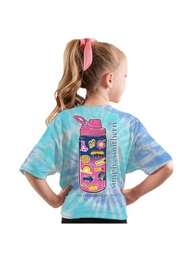 Simply Southern Collection Youth Sticker Short Sleeve T-Shirt - Tide