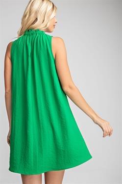 Glam High Neck Swing Dress