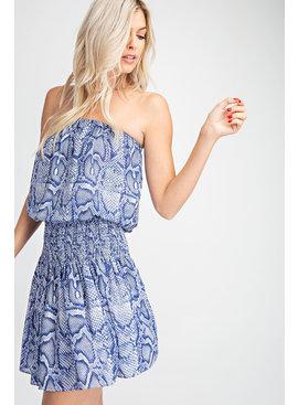 Glam Tube Smocked Dress
